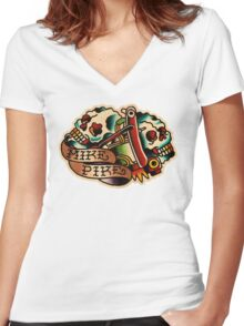 Spitshading 11 Women's Fitted V-Neck T-Shirt