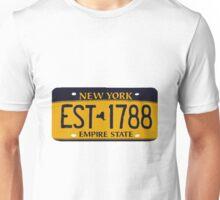 New York License Unisex T-Shirt