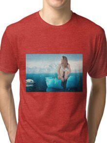Polar Escape with Glacier Girl Tri-blend T-Shirt