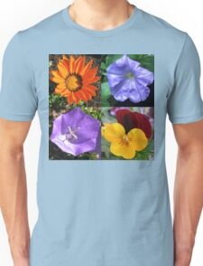 Quartet of Summer Flowers Collage Unisex T-Shirt