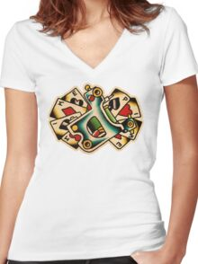Spitshading 14 Women's Fitted V-Neck T-Shirt