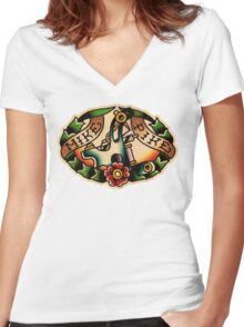 Spitshading 13 Women's Fitted V-Neck T-Shirt