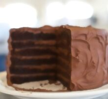 Dreaming of Chocolate Layer Cake by Leslie Brienza