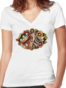 Spitshading 19 Women's Fitted V-Neck T-Shirt