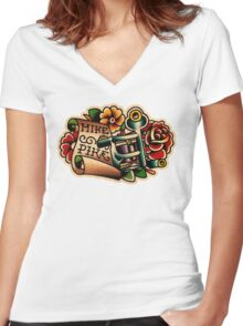 Spitshading 25 Women's Fitted V-Neck T-Shirt