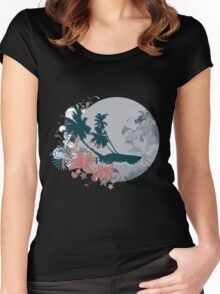 Summer floral Women's Fitted Scoop T-Shirt