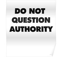 DO NOT QUESTION AUTHORITY Poster