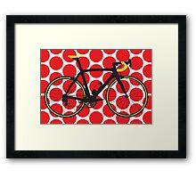 Bike Red Polka Dot (Big - Highlight) Framed Print