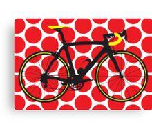 Bike Red Polka Dot (Big - Highlight) Canvas Print