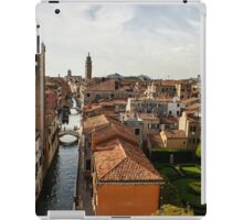 Red Roofs of Europe - Venetian Canals, Palaces, Gardens and Courtyards iPad Case/Skin