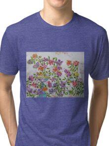 PAW-SCH - GARDEN BIRD BATH Tri-blend T-Shirt