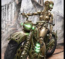 Cyberpunk Painting 023 by Ian Sokoliwski