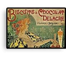 Biscuits and Chocolat Delacre Canvas Print