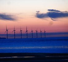 WIND FARM AT SUNSET by gothgirl