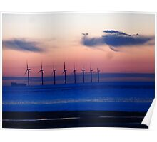 WIND FARM AT SUNSET Poster