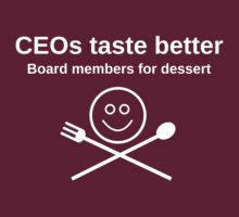 CEOs taste better, for dark apparel by Rhona Mahony