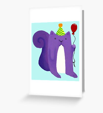 Party Squirrel  Greeting Card