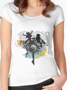 People dancing Women's Fitted Scoop T-Shirt