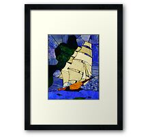 Sails Fore the Wind ! Framed Print