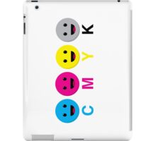 CMYK Scale Smiley Faces iPad Case/Skin