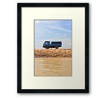 Blue Truck, Blue Skies Framed Print