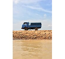 Blue Truck, Blue Skies Photographic Print