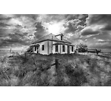 House on the Prairies - BW Photographic Print