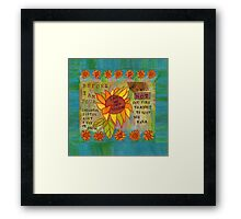My Own Person Sunflower Framed Print