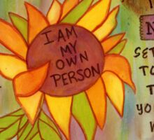 My Own Person Sunflower Sticker