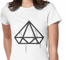 Upside down Diamond wet Drip Womens Fitted T-Shirt