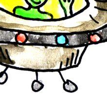 Crazy Wild Happy Alien Sticker