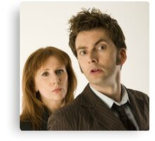 The Doctor and Donna Canvas Print