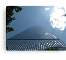 Looking Up from the Base of the New World Trade Center, Lower Manhattan, New York City Canvas Print