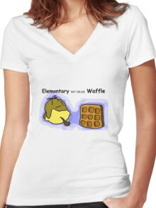 Elemontary my dear Waffle Women's Fitted V-Neck T-Shirt