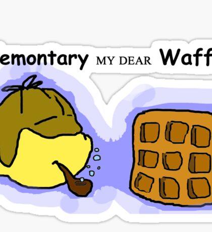 Elemontary my dear Waffle Sticker
