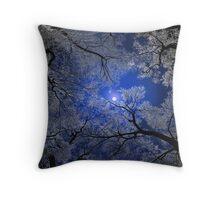Moonlight Trees Pillow Throw Pillow