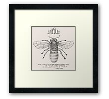 Steampunk - Save the Bees Framed Print