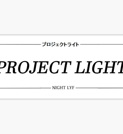 Project Light Reg Sticker