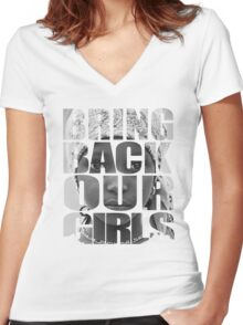 Bring Back Our Girls Women's Fitted V-Neck T-Shirt
