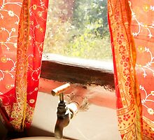 Fabric Curtains in India by Leslie Brienza