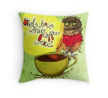 What my #Coffee says to me - July 20, 2013 Pillow Throw Pillow