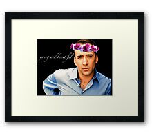 Young and Beautiful Framed Print