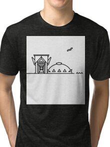 Marquette Michigan Superior Dome Ore Dock Tri-blend T-Shirt