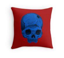 Blueskull pillow Throw Pillow