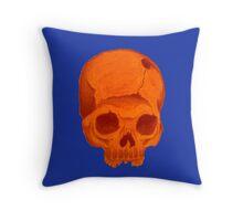orangeskull pillow Throw Pillow