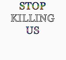 Stop Killing Us Mens V-Neck T-Shirt