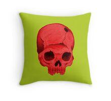 Redskull pillow Throw Pillow