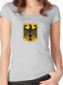 German Coat of Arms - Olympic Symbol Women's Fitted Scoop T-Shirt