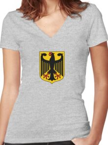 German Coat of Arms - Olympic Symbol Women's Fitted V-Neck T-Shirt