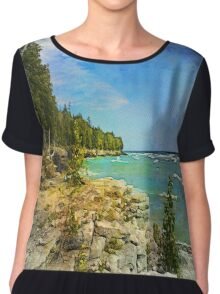 Lake Michigan,Wisconsin Chiffon Top